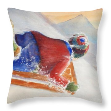 Wheee Throw Pillow by Marilyn Jacobson