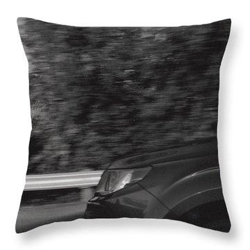 Wheel Blur Photograph Throw Pillow