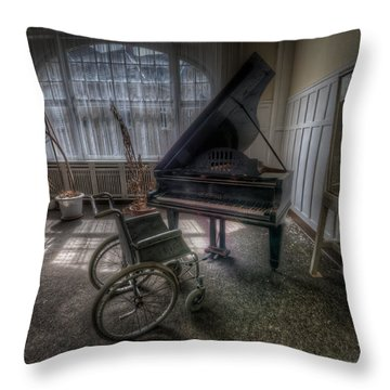 Wheel Music Throw Pillow by Nathan Wright