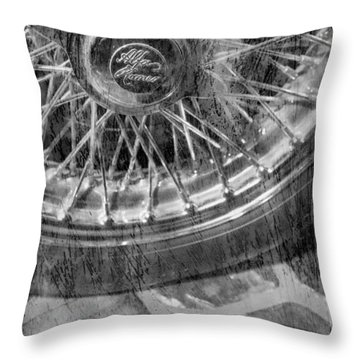 Throw Pillow featuring the photograph Wheel Of An Old Car. by Andrey  Godyaykin