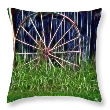 Throw Pillow featuring the photograph Wheel Of Fortune by EricaMaxine  Price