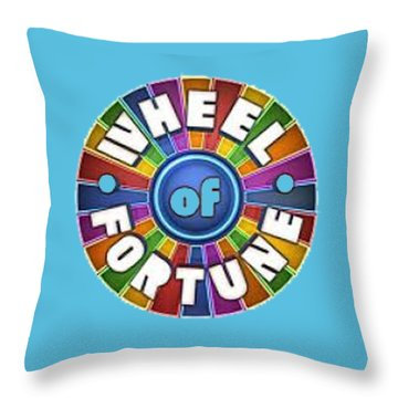 Wheel Of Fortune T-shirt Throw Pillow