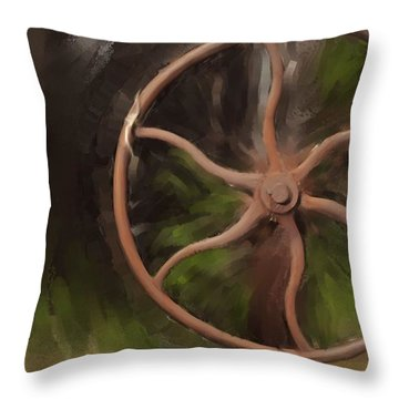 Wheel Of Life Throw Pillow by Davina Washington