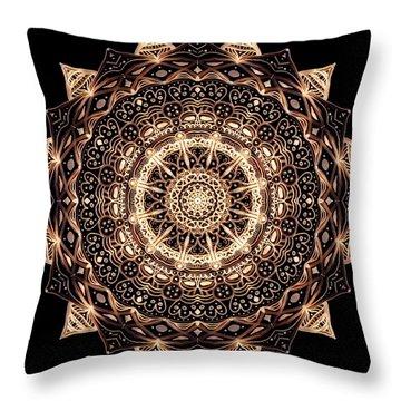 Wheel Of Life Mandala Throw Pillow
