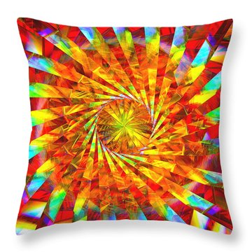 Wheel Of Light Throw Pillow by Andreas Thust