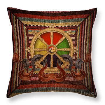Wheel Of The Dharma Throw Pillow