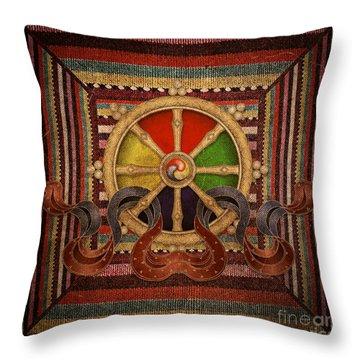 Wheel Of The Dharma Throw Pillow