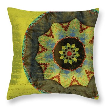 Wheel Of Time Throw Pillow by Bonnie Bruno