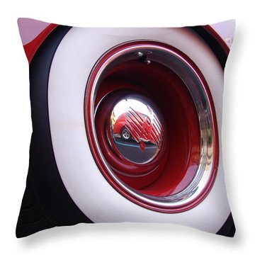 Wheel Reflection Throw Pillow by Carol Milisen