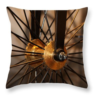 Wheel Spokes  Throw Pillow