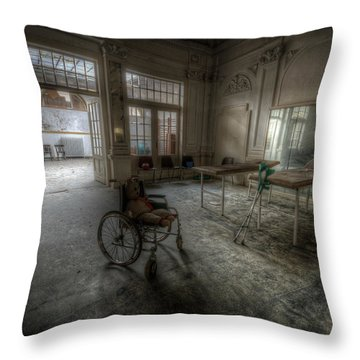 Wheel Teddy Throw Pillow by Nathan Wright