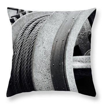Wheels And Pulleys  Throw Pillow