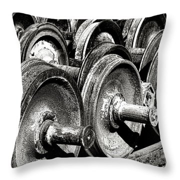 Wheels And Wheels And Wheels Throw Pillow