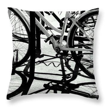 Wheels Throw Pillow by David Gilbert