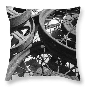 Wheels Of Time Throw Pillow by Tim Good