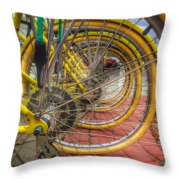 Wheels Within Wheels Throw Pillow