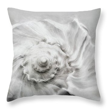 Throw Pillow featuring the photograph Whelk In Black And White by Benanne Stiens
