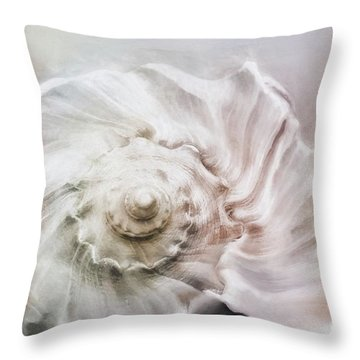 Throw Pillow featuring the photograph Whelk Shell by Benanne Stiens