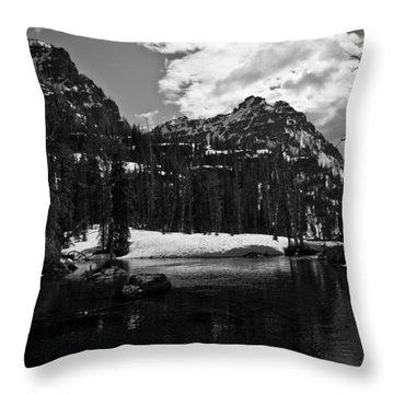 Whelp Lake, Mission Mountains Throw Pillow