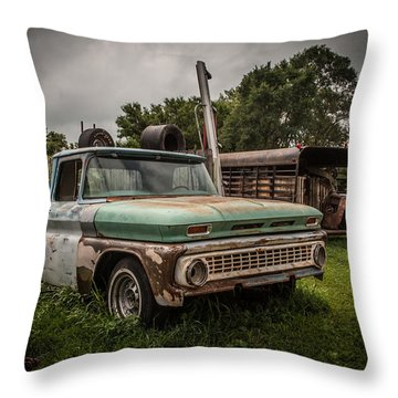 When A Truck Was Throw Pillow by Ray Congrove