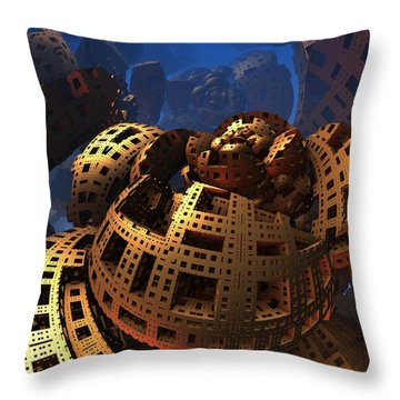 Throw Pillow featuring the digital art When Black Friday Comes by Lyle Hatch