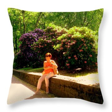 When Blooming Lilacs Throw Pillow