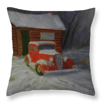 When Cars Were Big And Homes Were Small Throw Pillow
