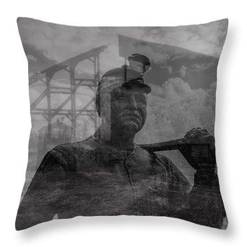 When Coal Was King II Throw Pillow