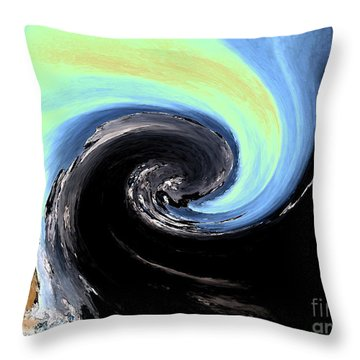 When Darkness Meets Light Throw Pillow