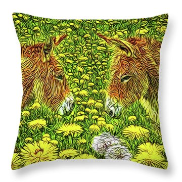 When Donkeys Speak Throw Pillow