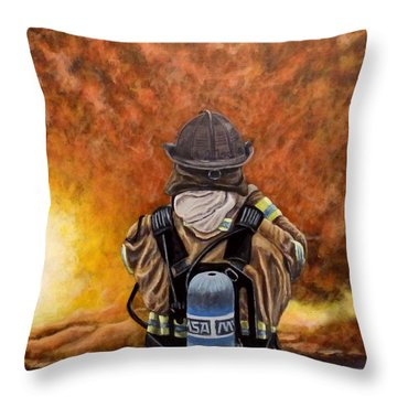 When Hell Comes To Visit Throw Pillow