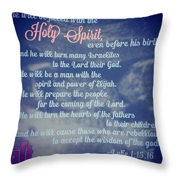 When Herod Was King Of Judea, There Was Throw Pillow