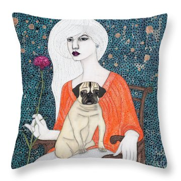Throw Pillow featuring the painting When I Call by Natalie Briney