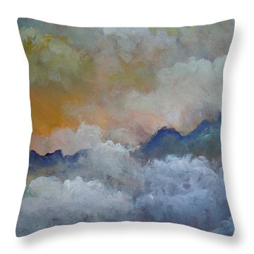 Throw Pillow featuring the painting When I Consider Your Heavens Psalm 8 by Dan Whittemore