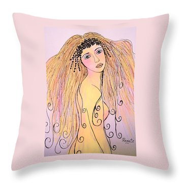 When I First Saw Her..... Throw Pillow