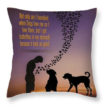 When I Get Butterflies Throw Pillow