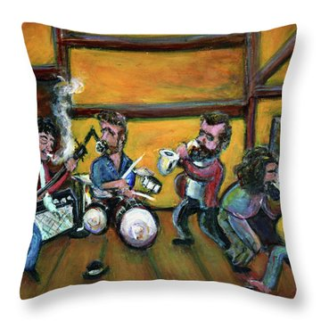 When I Paint My Masterpiece Throw Pillow by Jason Gluskin