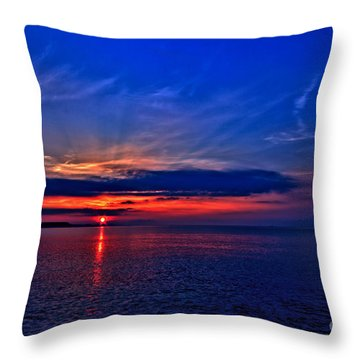 When I'm Feeling Blue Throw Pillow by Stephen Melia