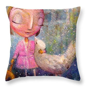When I'm With You Throw Pillow by Eleatta Diver
