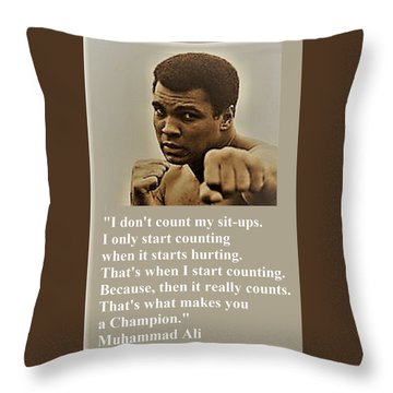 When It Counts Throw Pillow
