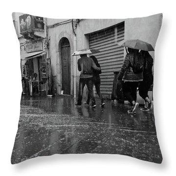 When It Rains It Pours Throw Pillow