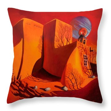 When Jupiter Aligns With Mars Throw Pillow