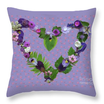 Throw Pillow featuring the mixed media When Love Is New by Nancy Lee Moran