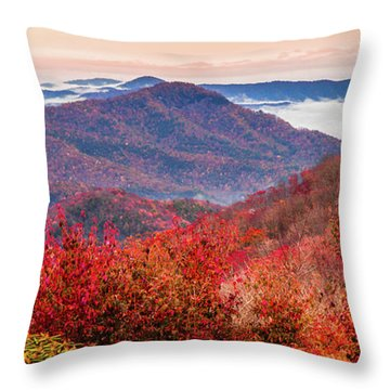Throw Pillow featuring the photograph When Mountains Sing by Karen Wiles