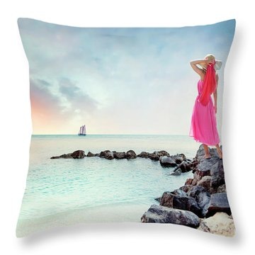 When My Dreamboat Comes Home Throw Pillow