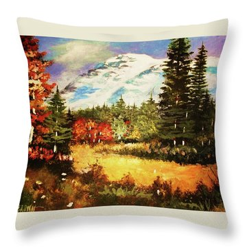 When Nature Exploits Her Colors Throw Pillow