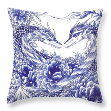 When Our Eyes Meet Throw Pillow by Alice Chen