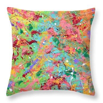 When Pollock Was Happy Throw Pillow