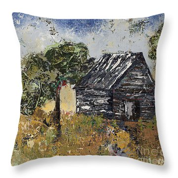 When September Ends Throw Pillow by Kirsten Reed