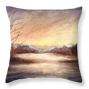 When Shadows Fall  Throw Pillow